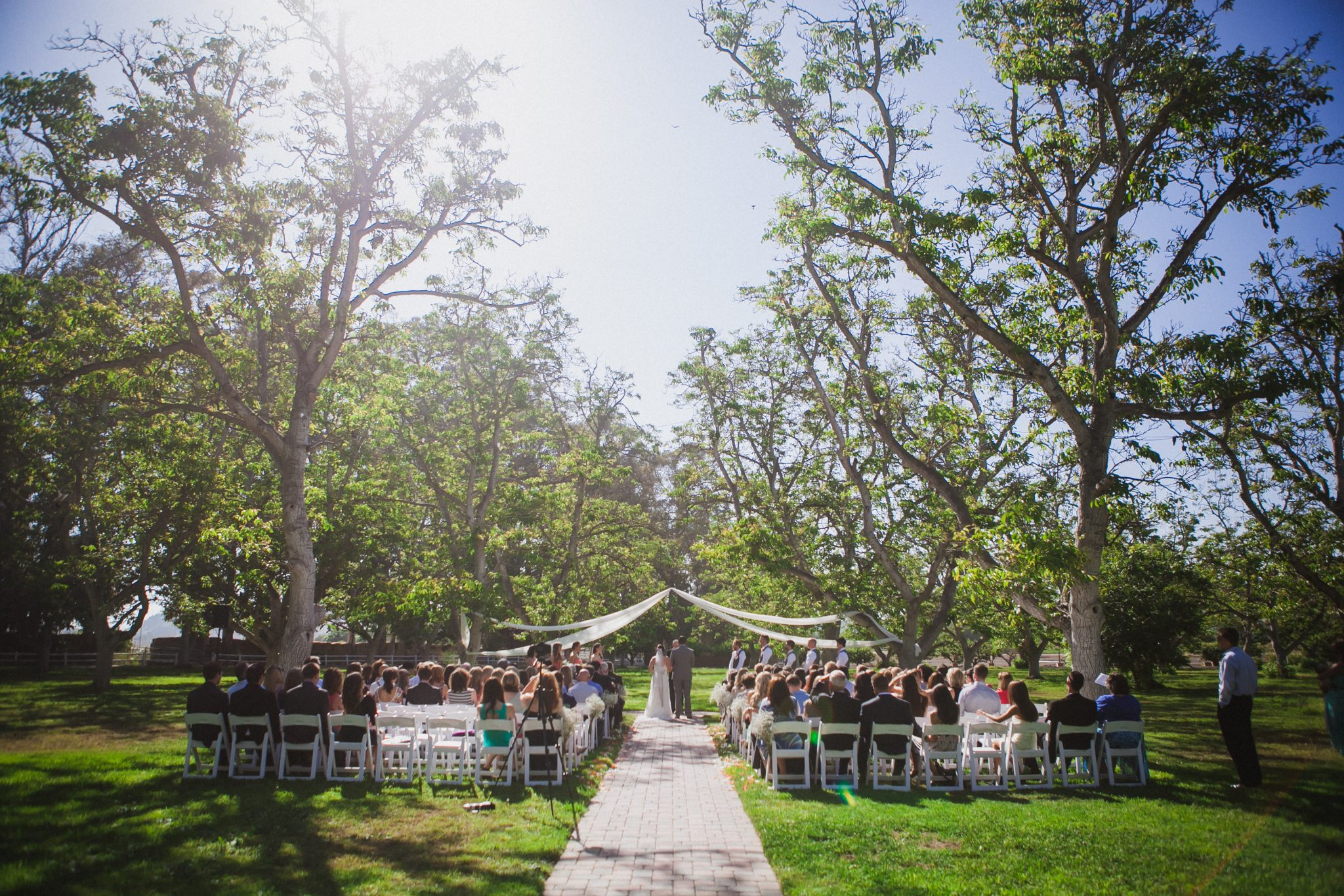 Wedding ceremony site at Walnut Grove in California