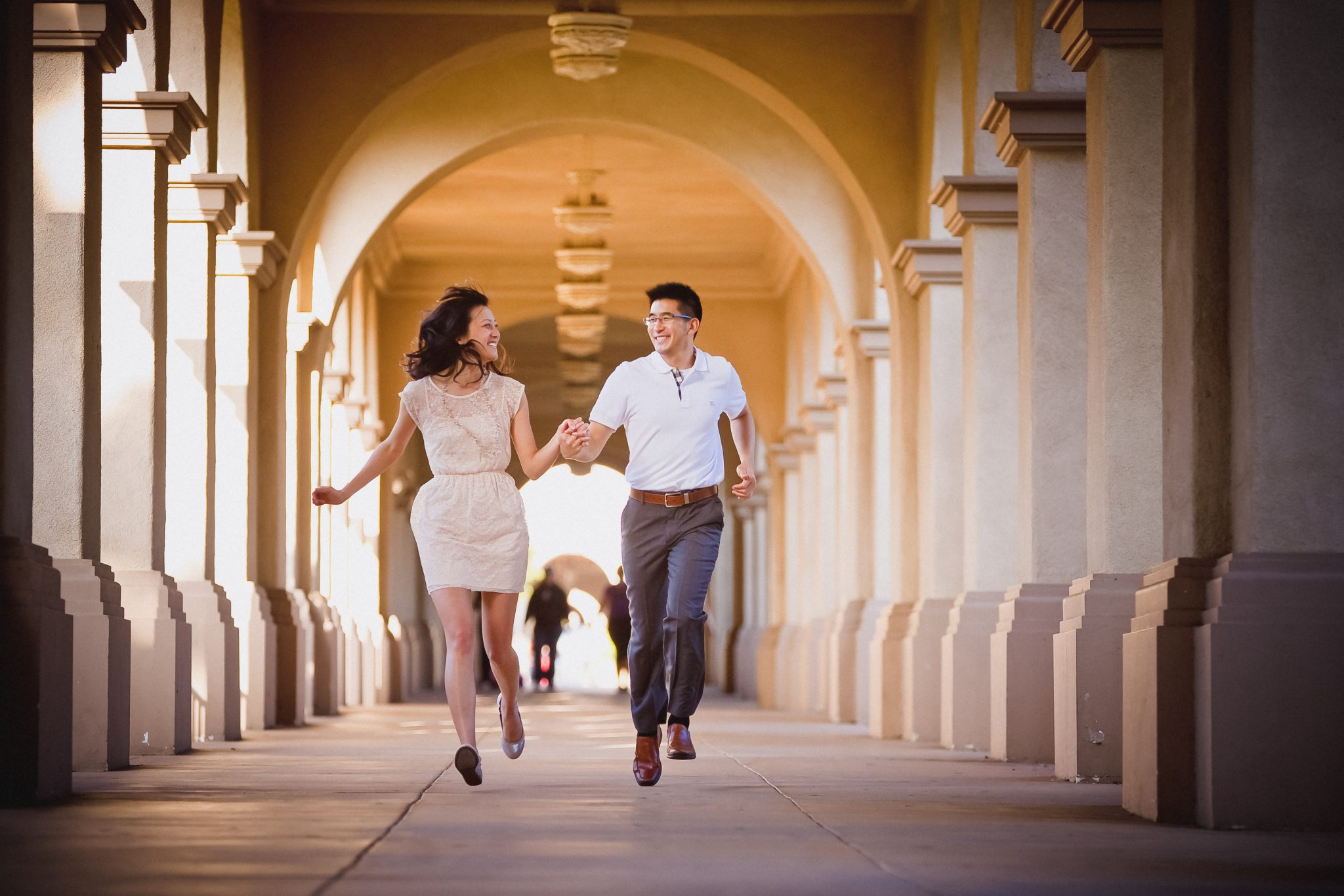Classic engagement picture outfits at Balboa Park