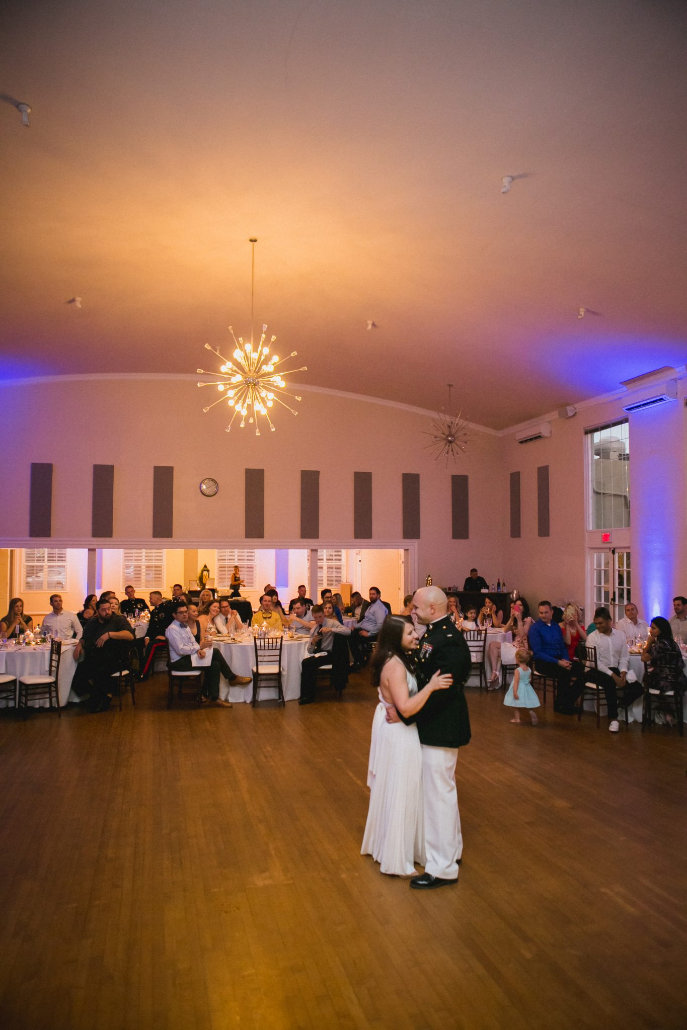 Wedding couple dancing together at Parq West