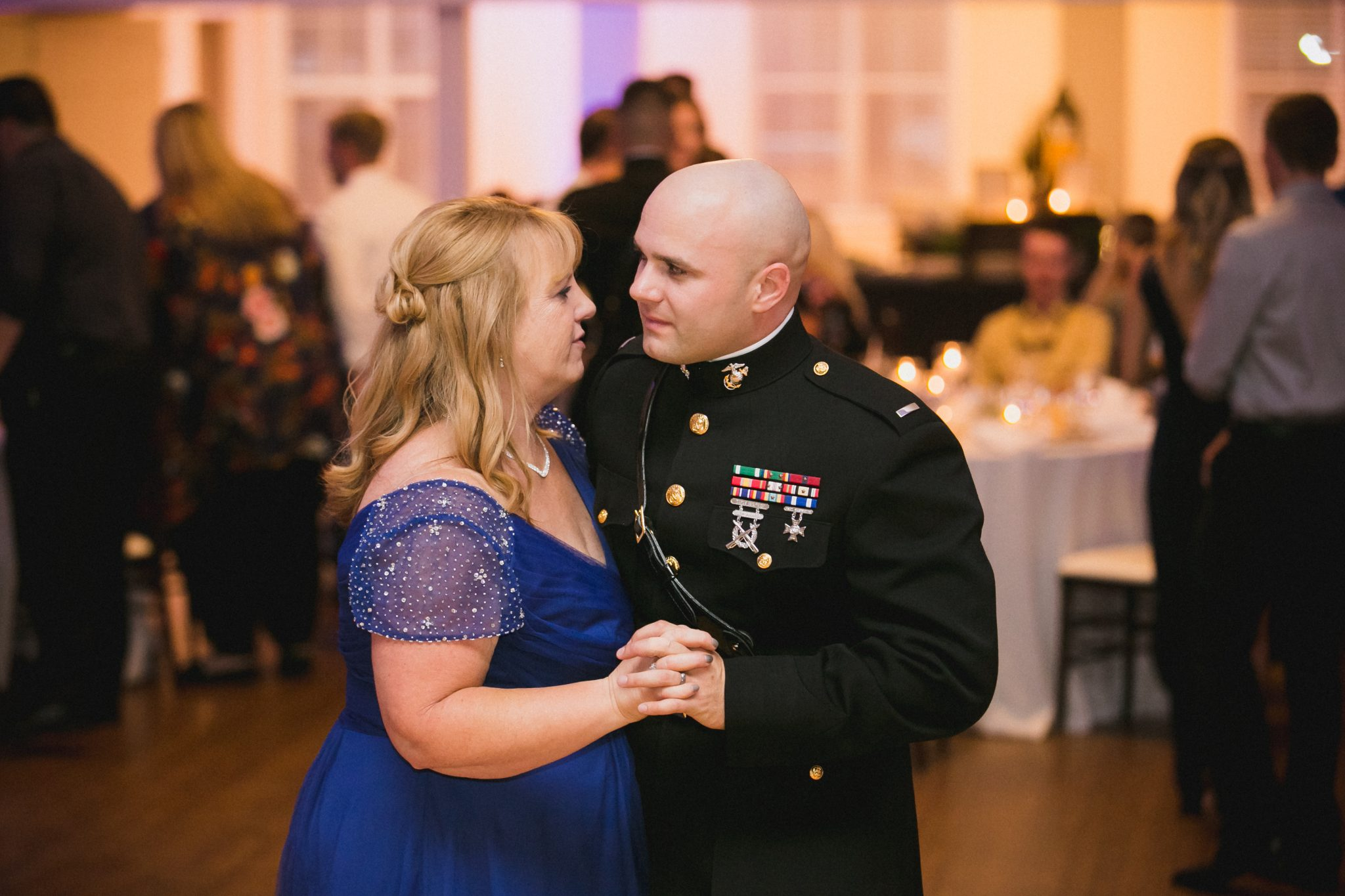 Mother son dance at the wedding reception