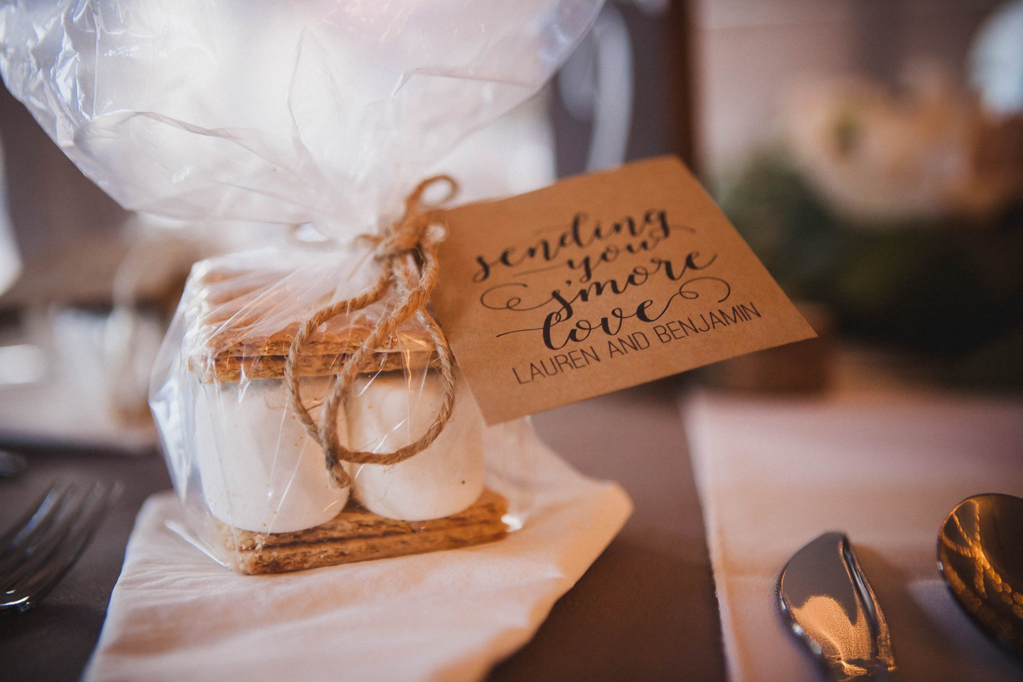 Smores wedding favors for guests